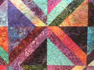 Batik quilt varigated thread