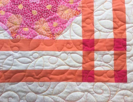 Pink & Orange Kaleidescope quilting thread 2